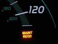 MAINT REQD Oil Indicator Light